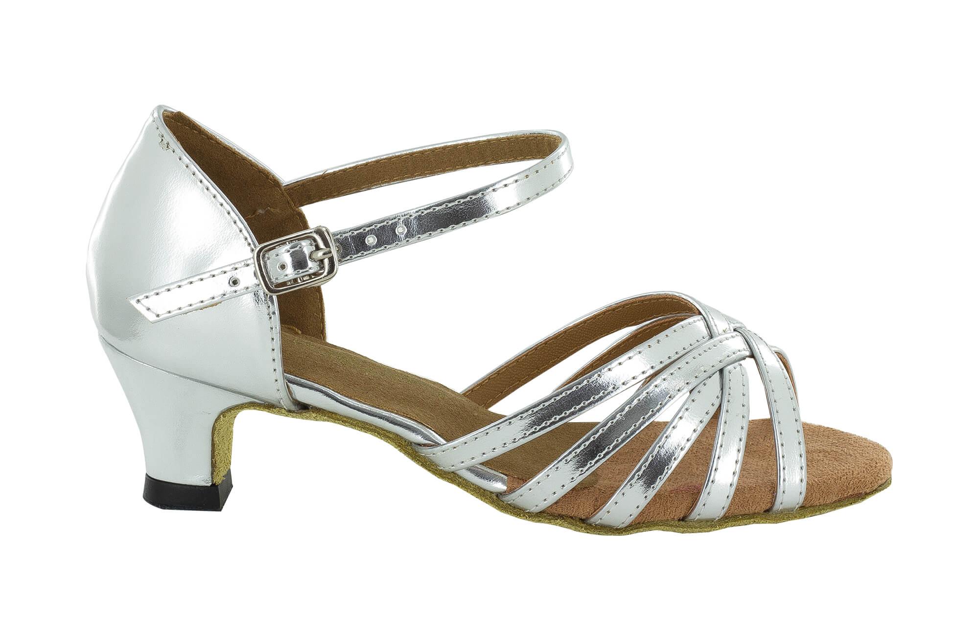 best service 96a38 27d1d Dancing shoes 5 bands silver heel 3,5 cm slim - Dancin scarpe da ballo