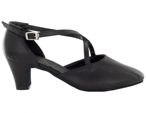 Scarpa Da Ballo E Studio Broadway Cuccarini In Pelle Nero Tacco 5 Cm Right