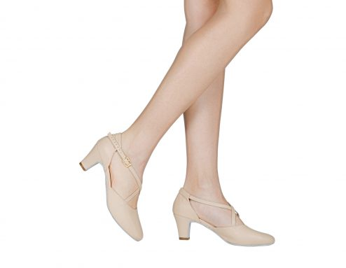 Scarpa Da Ballo E Studio Broadway Cuccarini In Pelle Rosa Tacco 5 Cm Indossato