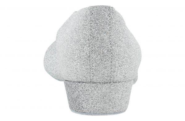 Scarpa Da Ballo Insegnate Colore Argento Brillantinato Tacco 2,5 Cm Back