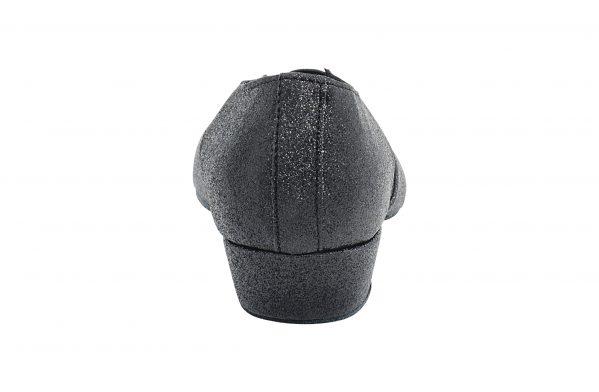 Scarpa Da Ballo Insegnate Colore Nero Brillantinato Tacco 25 Cm Back