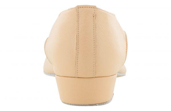 Scarpa Da Ballo Insegnate In Pelle Rosa Tacco 2,5 Cm Back