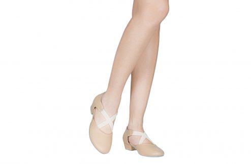 Scarpa Da Ballo Insegnate In Pelle Rosa Tacco 25 Cm Indossato
