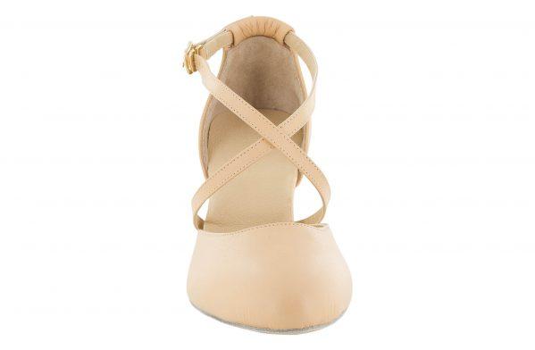 Scarpa Da Ballo Modello Rai Color Nudo Flexpro Suola In Bufala Tacco Cm 7,5 Front
