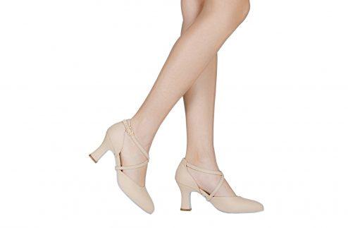 Scarpa Da Ballo Modello Rai Color Nudo Flexpro Suola In Bufala Tacco Cm 75 Indossato
