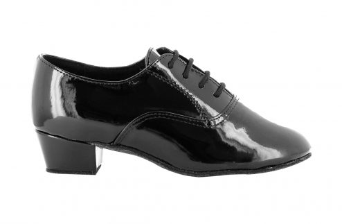 Scarpa Da Ballo Oxford Bambino In Vernice Nera Tc Cm 3 5 Right