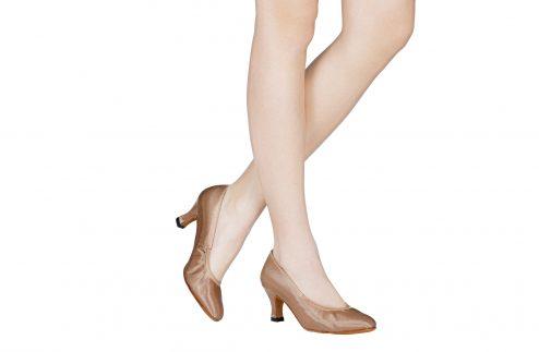 Scarpa Da Ballo Standard In Raso Flesh Tacco 6 Cm Indossato