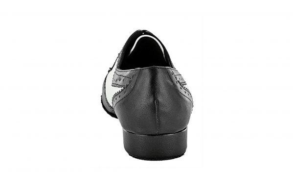 Scarpa Da Ballo Uomo Colore Bianco Nero Tacco 2 5 Cm Back