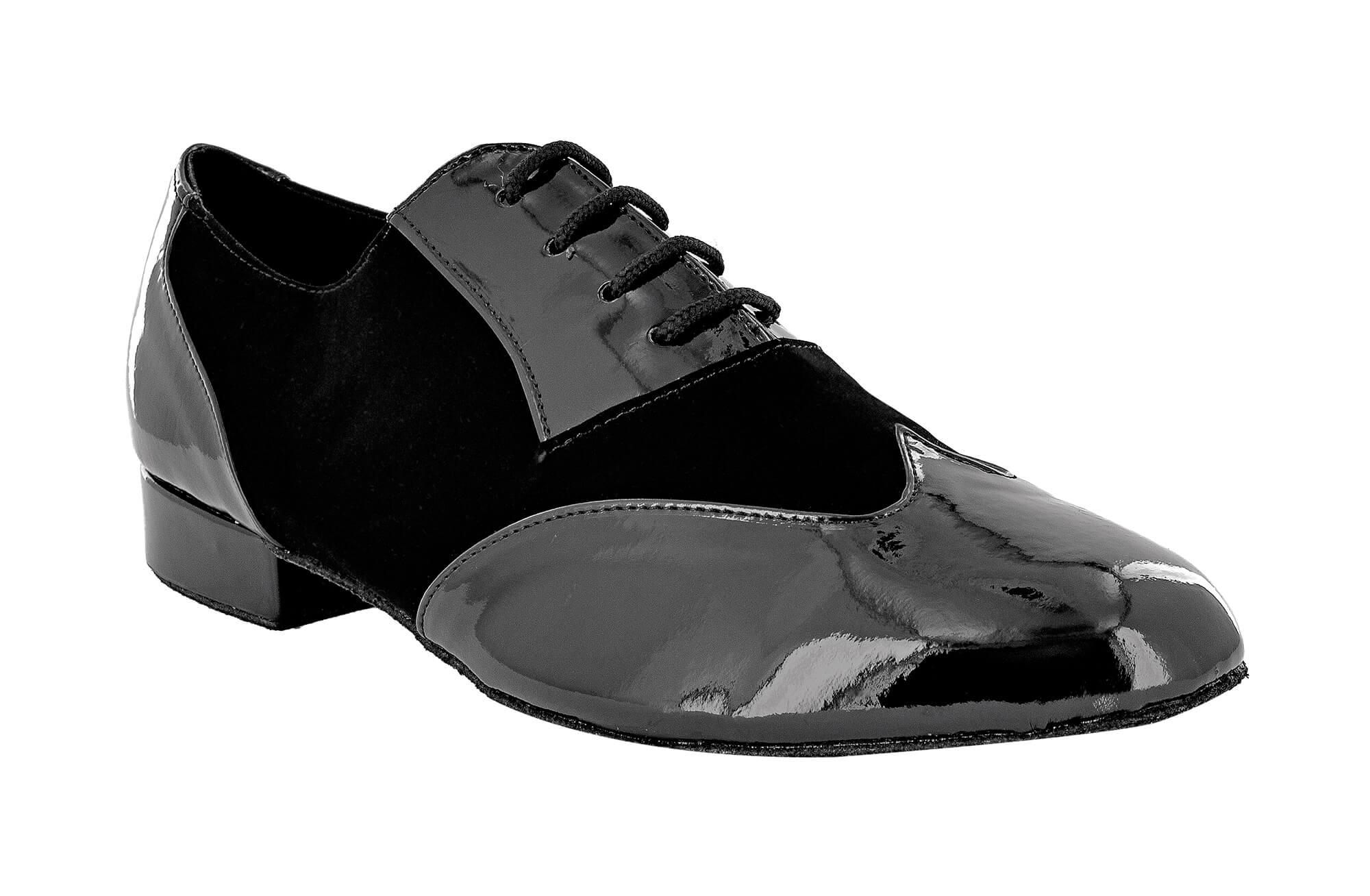 buy popular ceaf2 16cab Dancing shoes for men in paint and nabuk black sole comfort heel 2,5 cm -  Dancin scarpe da ballo