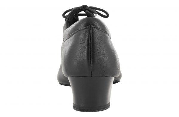 Scarpa Da Ballo Uomo Latino Professionale Suola Spezzata Colore Nero Tacco 4 Cm Back