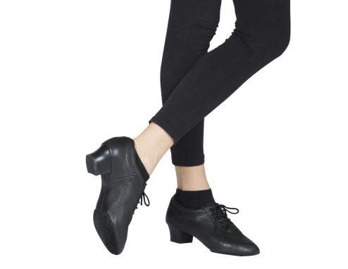 Scarpa Da Ballo Uomo Latino Professionale Suola Spezzata Colore Nero Tacco 4 Cm Indossato