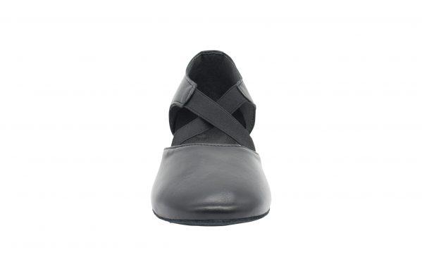 Scarpa Danza Insegnate Colore Nero Tacco 2 5 Cm Front