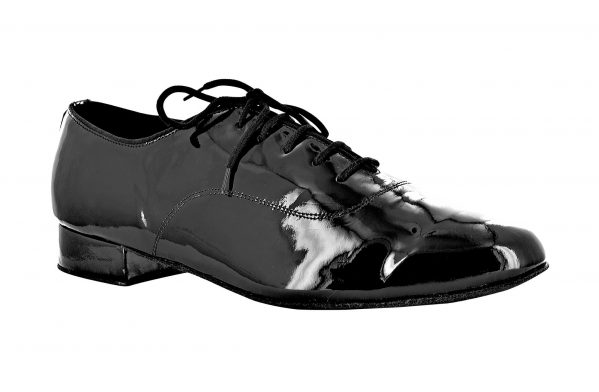 Scarpa Oxford Uomo In Vernice Nera Tc Cm 2 5