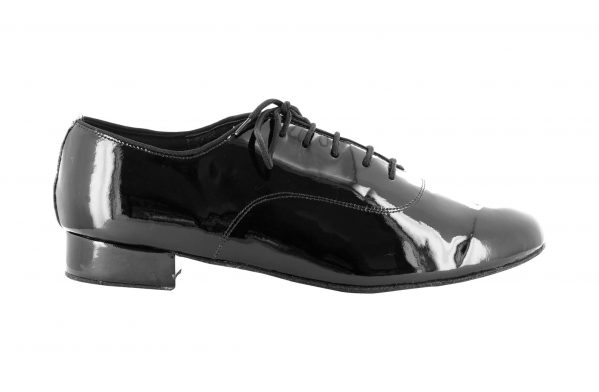 Scarpa Oxford Uomo In Vernice Nera Tc Cm 2 5 Right
