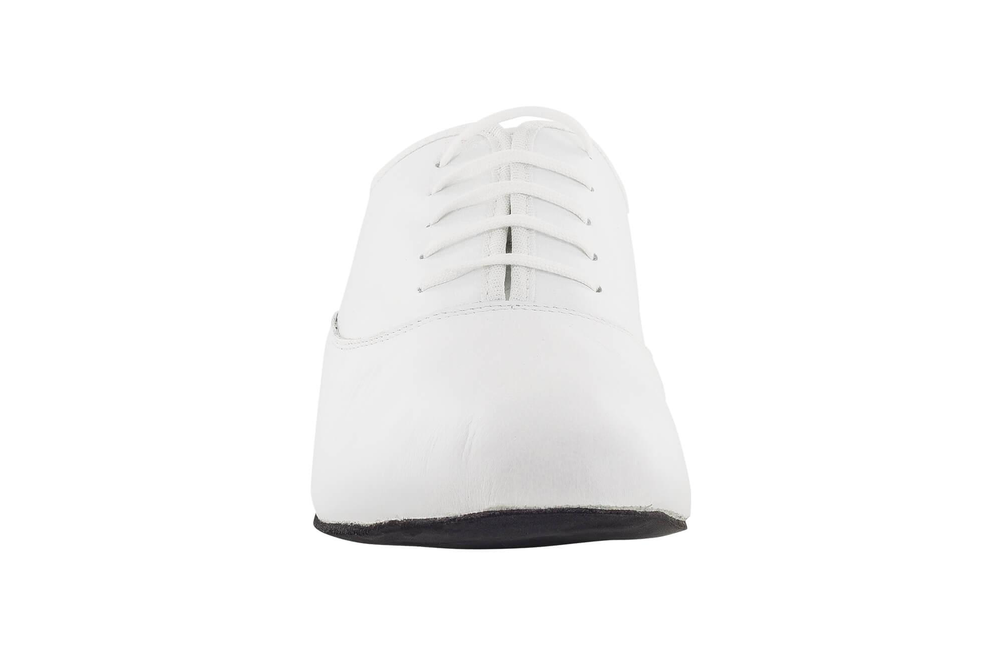 pretty nice 76816 85754 scarpa da ballo unisex oxford jazz in pelle bianco stringata tacco 1 cm -  Dancin scarpe da ballo