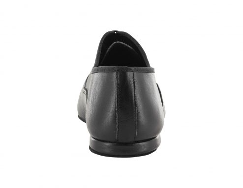 Scarpa Da Ballo Uomo Oxford Jazz In Pelle Nero Stringata Tacco 1 Cm Back