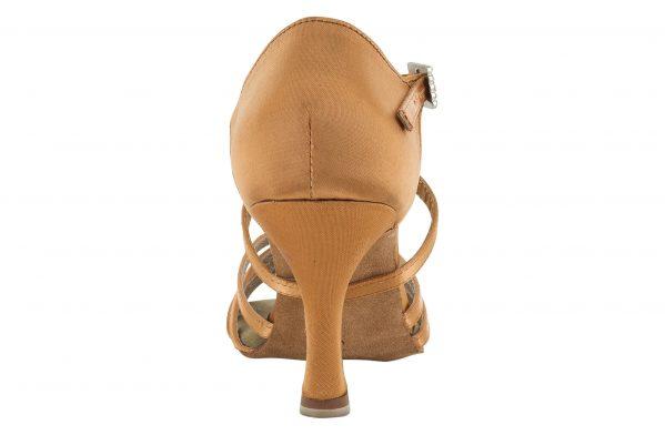 Scarpa Da Ballo 5 Fasce In Raso Flesh Con Incrocio Sulla Caviglia Tacco 7 5 Cm Back