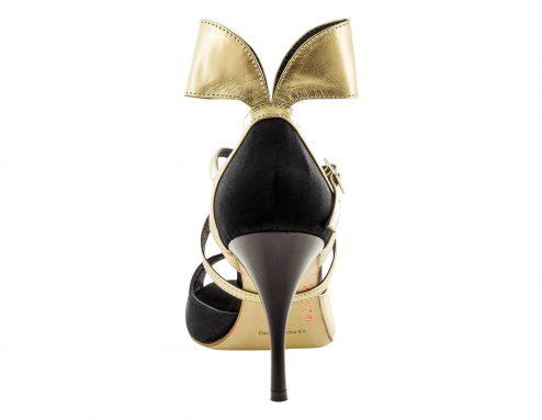 Scarpe Da Ballo Linea Atelier Passione Tango Fiocco In Pelle Metallic Platinum Tc 8 5 Cm Back