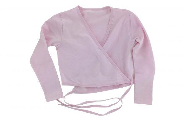 Scaldacuore Danza Classica A Maniche Lunghe Colore Rosa Fronte