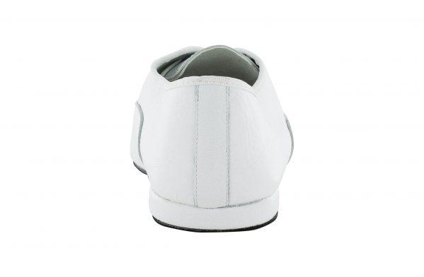 Scarpa Da Ballo Jazz In Pelle Bianco Con Suola Smezzata Superflex Drs By Vibram Tacco 1 Cm Back
