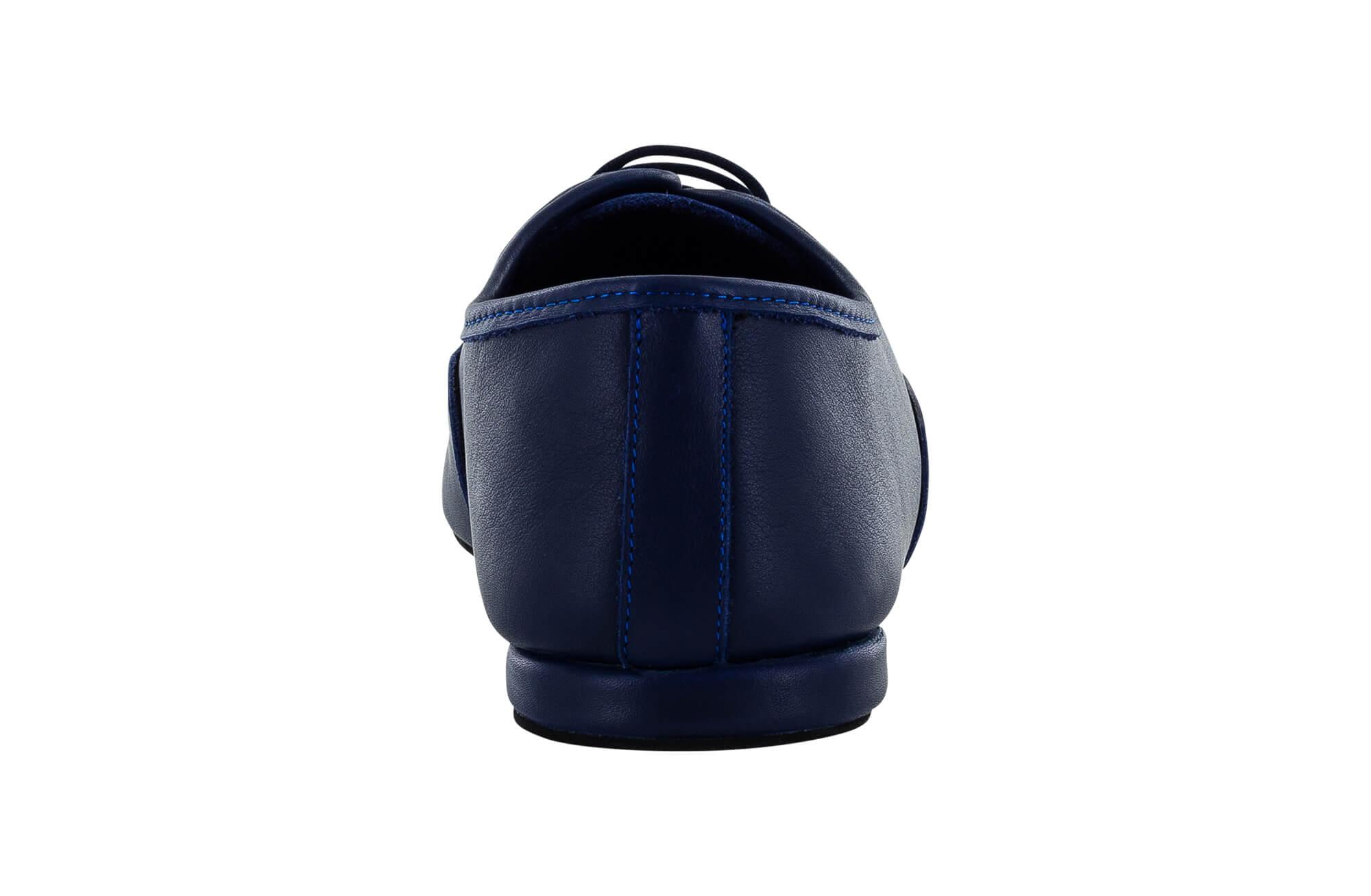 Scarpa Da Ballo Jazz In Pelle Blu Con Suola Smezzata Superflex Drs By Vibram Tacco 1 Cm Back