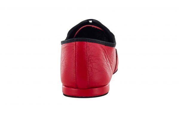 Scarpa Da Ballo Jazz In Pelle Rosso Con Suola Smezzata Superflex Drs By Vibram Tacco 1 Cm Back
