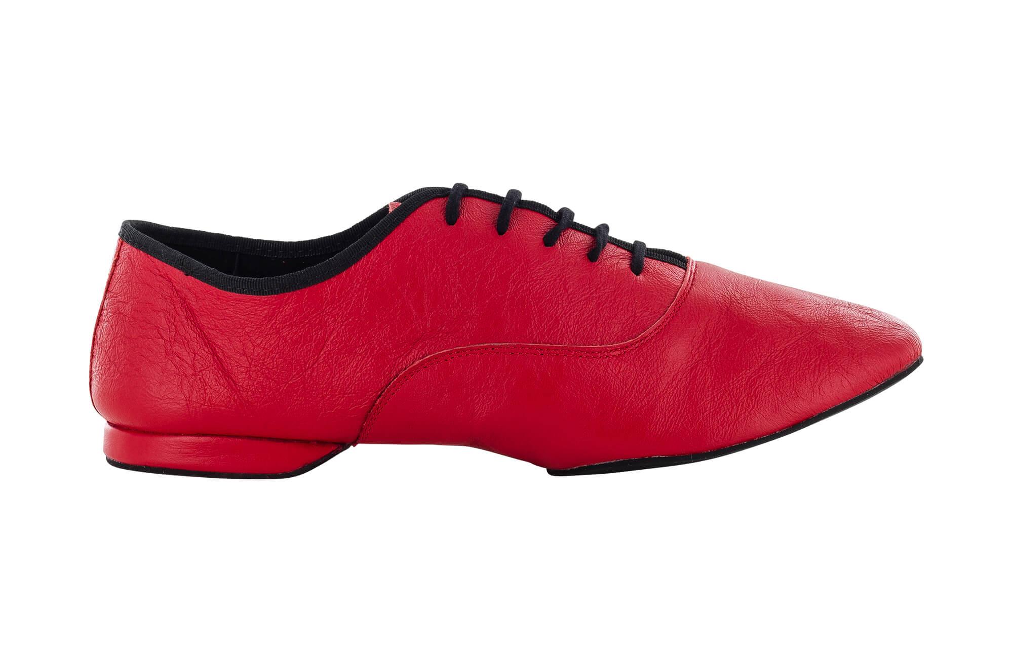 check out f859f c71c4 Scarpa da ballo uomo Jazz in pelle rosso tacco 1 cm
