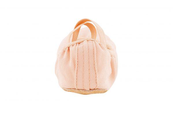 Mezze Punte In Sofficissima E Resistente Tela Elasticizzata Colore Rosa Con Elastici Incrociati Pre Cuciti Back