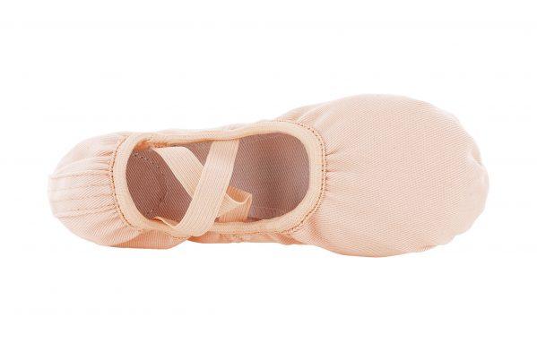 Mezze Punte In Sofficissima E Resistente Tela Elasticizzata Colore Rosa Con Elastici Incrociati Pre Cuciti Top