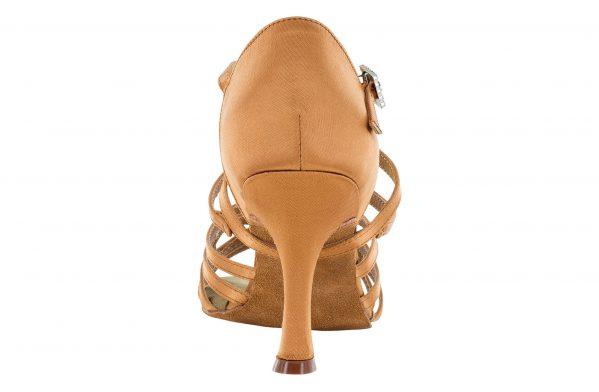 scarpa da ballo in raso con listini incrociati 5 fasce tacco 7,5 cm back