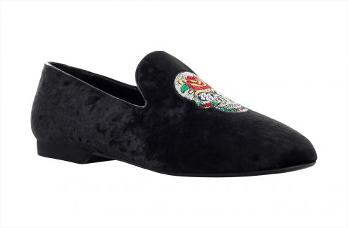 Mocassino Da Ballo Uomo Limited Edition Con Teschio Ricamato Tc 15 Com