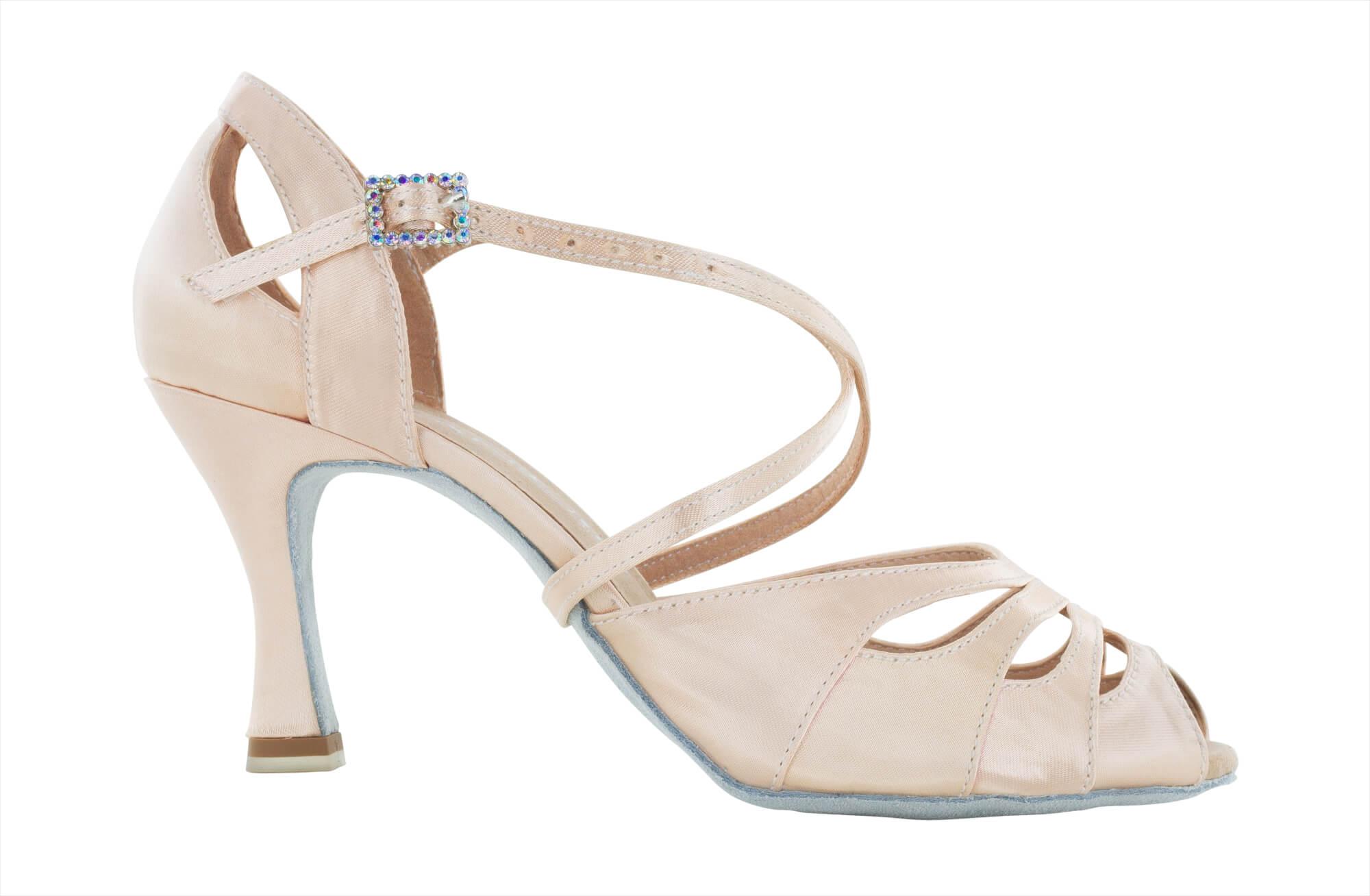 sulle immagini di piedi di 50-70% di sconto grandi affari sulla moda Open-toed Dancing shoes in face powder pink satin, heel 7,5 cm - Dancin  scarpe da ballo