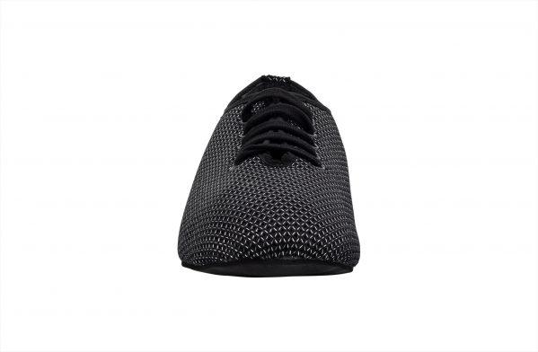 Scarpa Da Ballo Sneaker Sport In Space Nascar Colore Nero Tacco 1 Cm Front