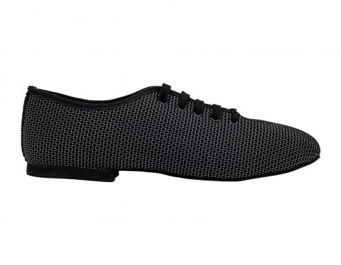 Scarpa Da Ballo Sneaker Sport In Space Nascar Colore Nero Tacco 1 Cm Right