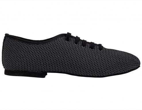 Scarpa Da Ballo Sneaker Sport In Space Nascar Colore Nero Tacco 1 Cm Right