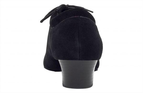 Scarpa Da Ballo Professionale Suola Spezzata In Nabuk Nero Tacco 4 Cm Back