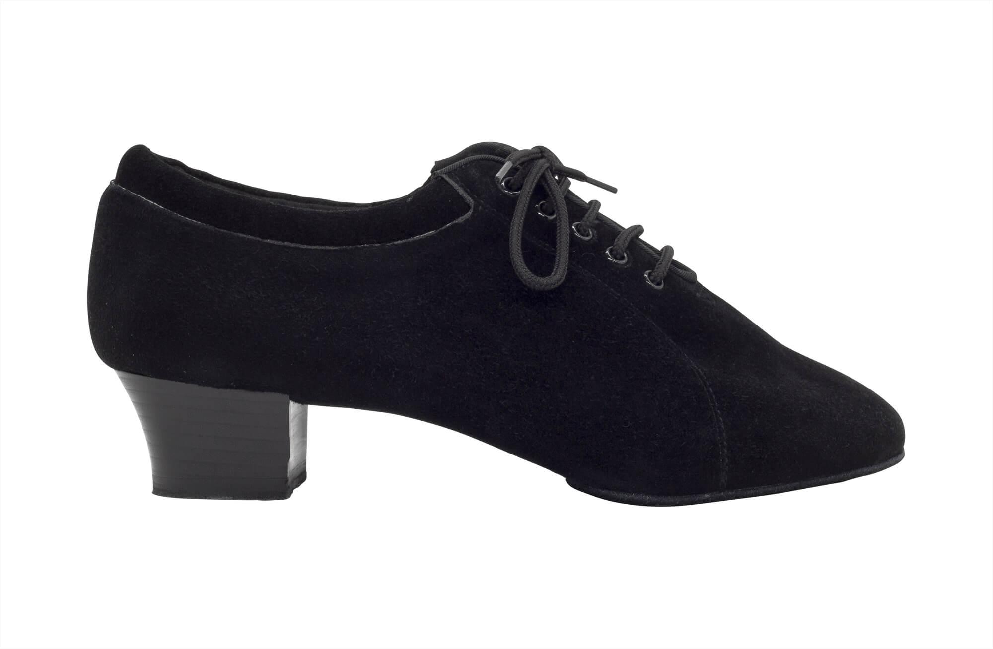 Scarpa da ballo professionale suola spezzata in nabuk nero tacco 4 cm