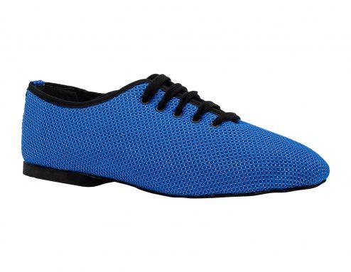 Scarpa Da Ballo Sneaker Sport In Space Nascar Blu Nero Tacco 1 Cm
