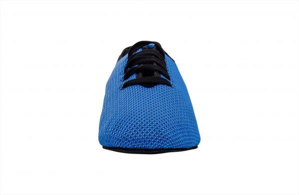Scarpa Da Ballo Sneaker Sport In Space Nascar Blu Nero Tacco 1 Cm Front