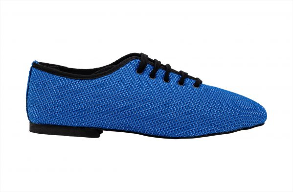 Scarpa Da Ballo Sneaker Sport In Space Nascar Blu Nero Tacco 1 Cm Right