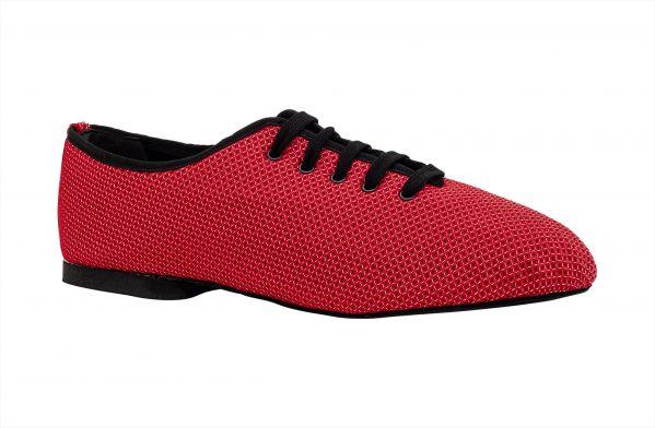 Scarpa Da Ballo Sneaker Sport In Space Nascar Rosso Tacco 1 Cm