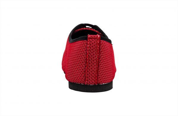 Scarpa Da Ballo Sneaker Sport In Space Nascar Rosso Tacco 1 Cm Back