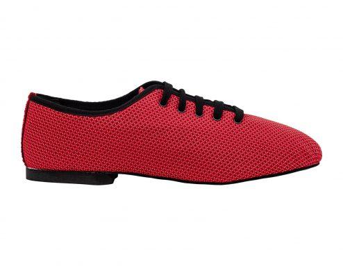 Scarpa Da Ballo Sneaker Sport In Space Nascar Rosso Tacco 1 Cm Right