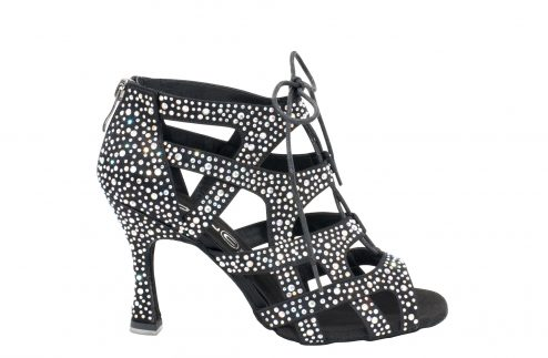 Scarpa Da Ballo Special Edition Eva Con Fasce Incrociate E Crystal Strass Tacco Cm 75 Right2