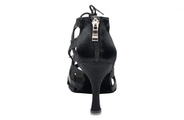 Scarpa Da Ballo Special Edition Eva Con Fasce Incrociate In Raso Nero Tacco 75 Cm Back
